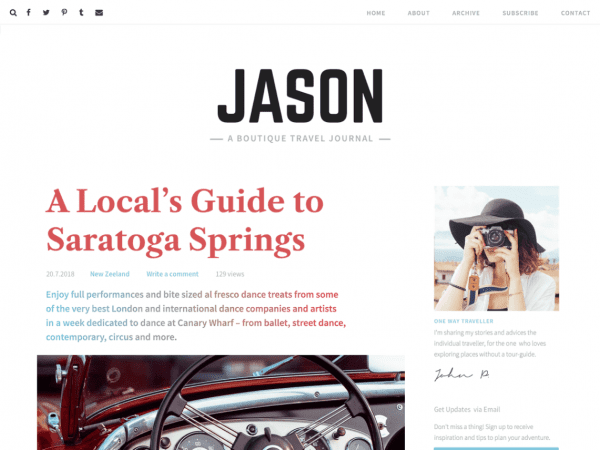 Free Jason Lite WordPress theme