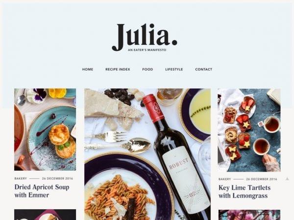Free Julia Lite WordPress theme