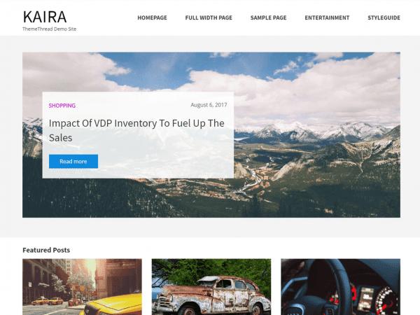 Free Kaira WordPress theme