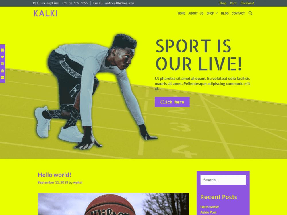 Free Kalki WordPress theme
