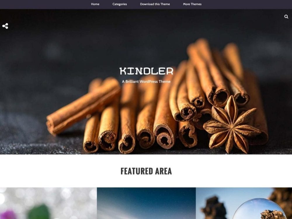 Free Kindler WordPress theme