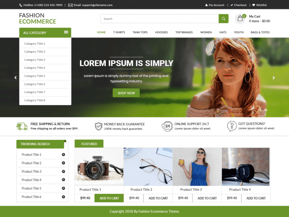 Free LZ Fashion Ecommerce WordPress theme