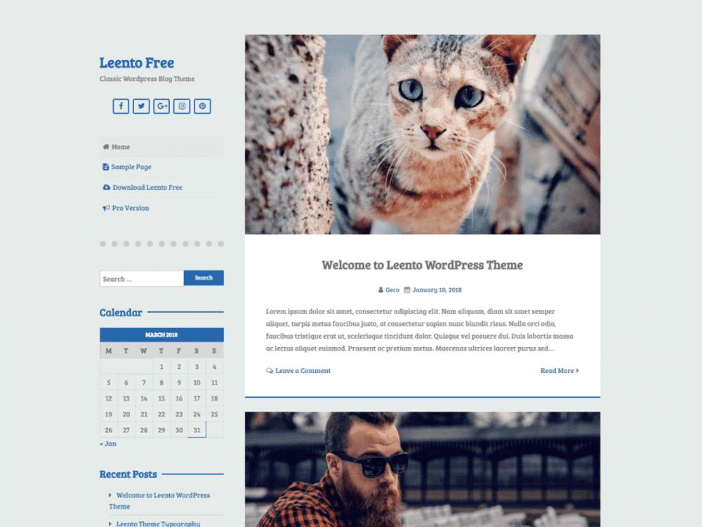 Free Leento WordPress theme