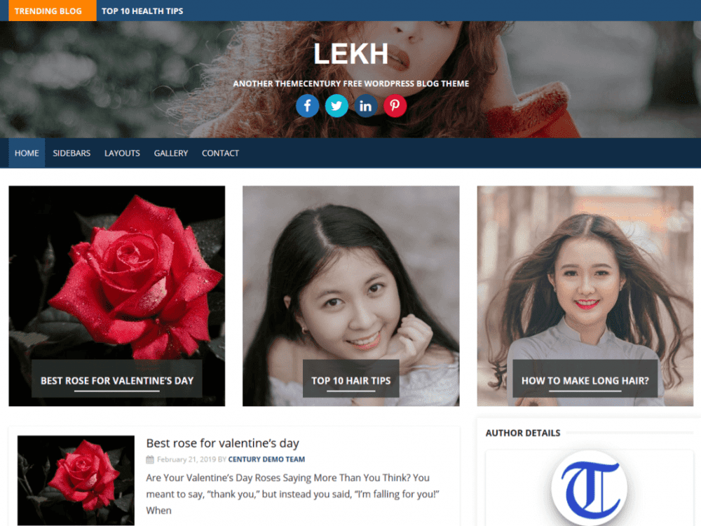 Free Lekh WordPress theme