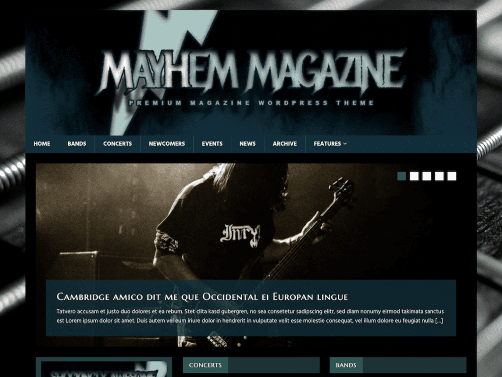 Free MH MusicMag WordPress theme