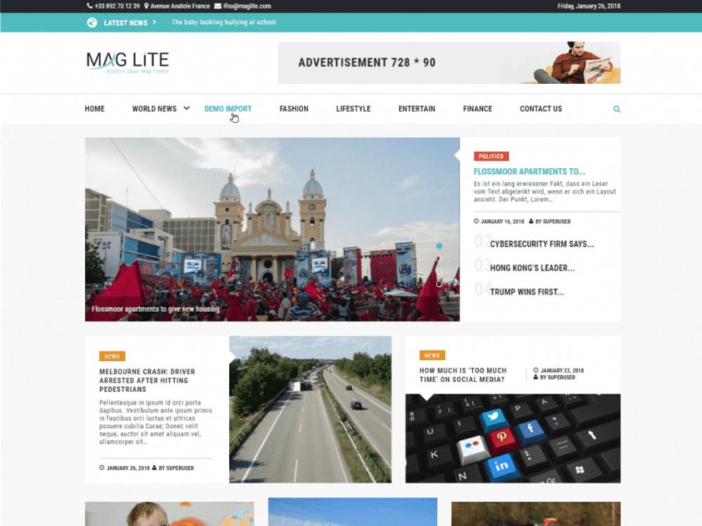 Free Mag Lite WordPress theme