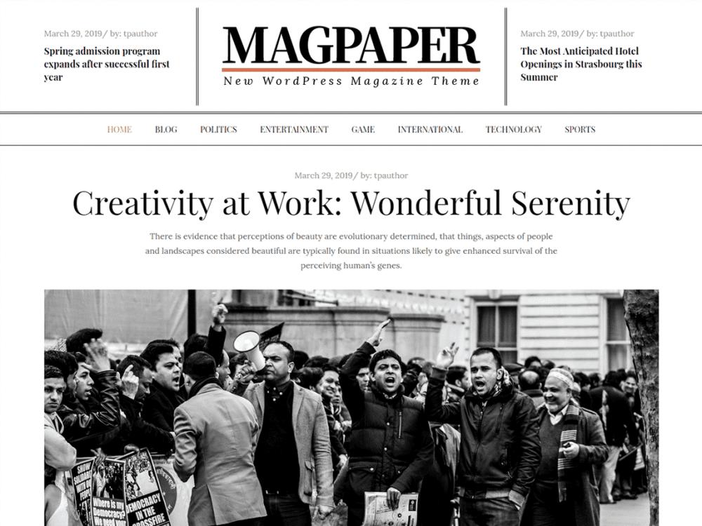 Free Magpaper WordPress theme