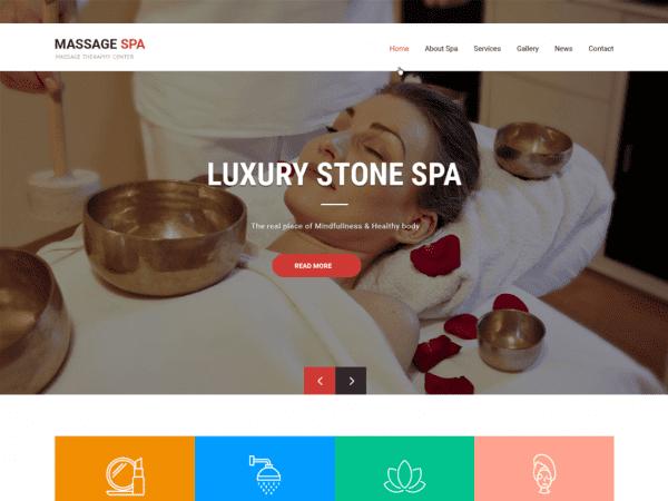 Free Massage Spa WordPress theme