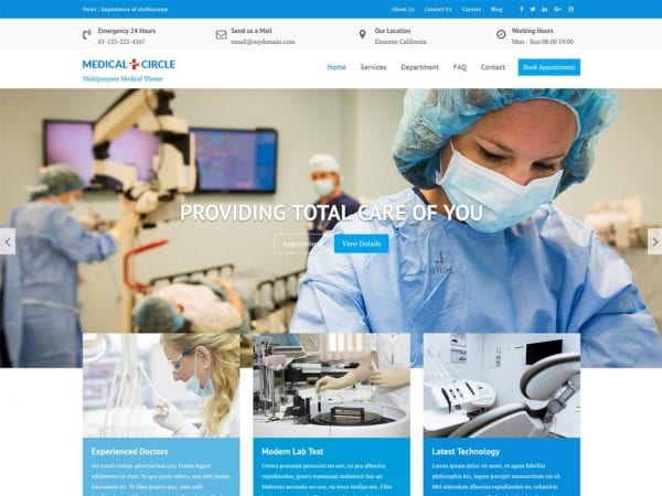 Free Medical Circle WordPress theme