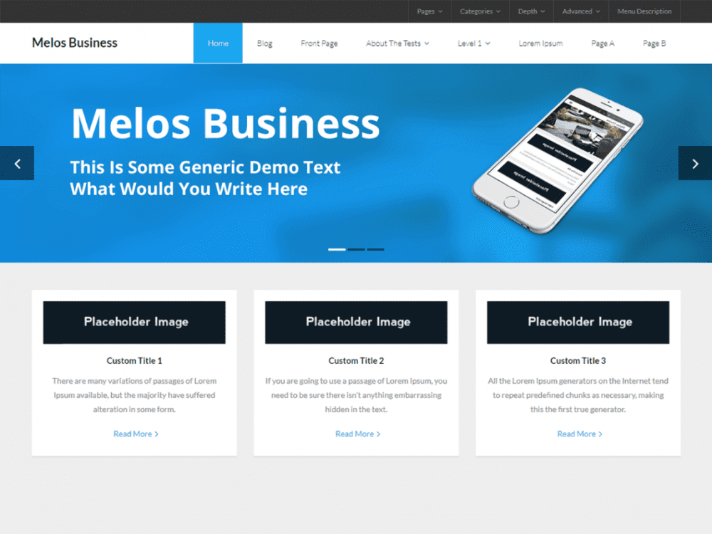 Free Melos Business WordPress theme