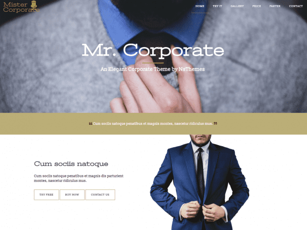 Free Mistercorporate WordPress theme