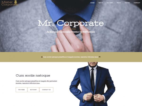 Free Mistercorporate WordPress theme