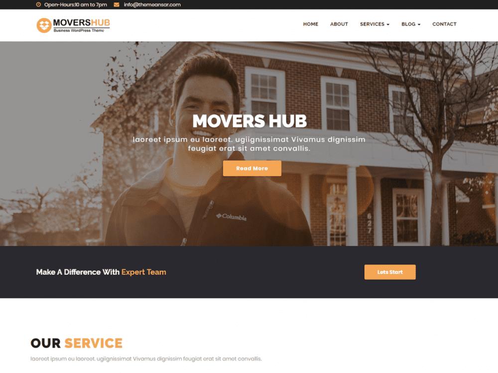 Free Movershub Wordpress theme