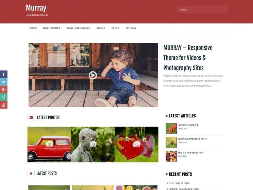 Free Murray WordPress theme