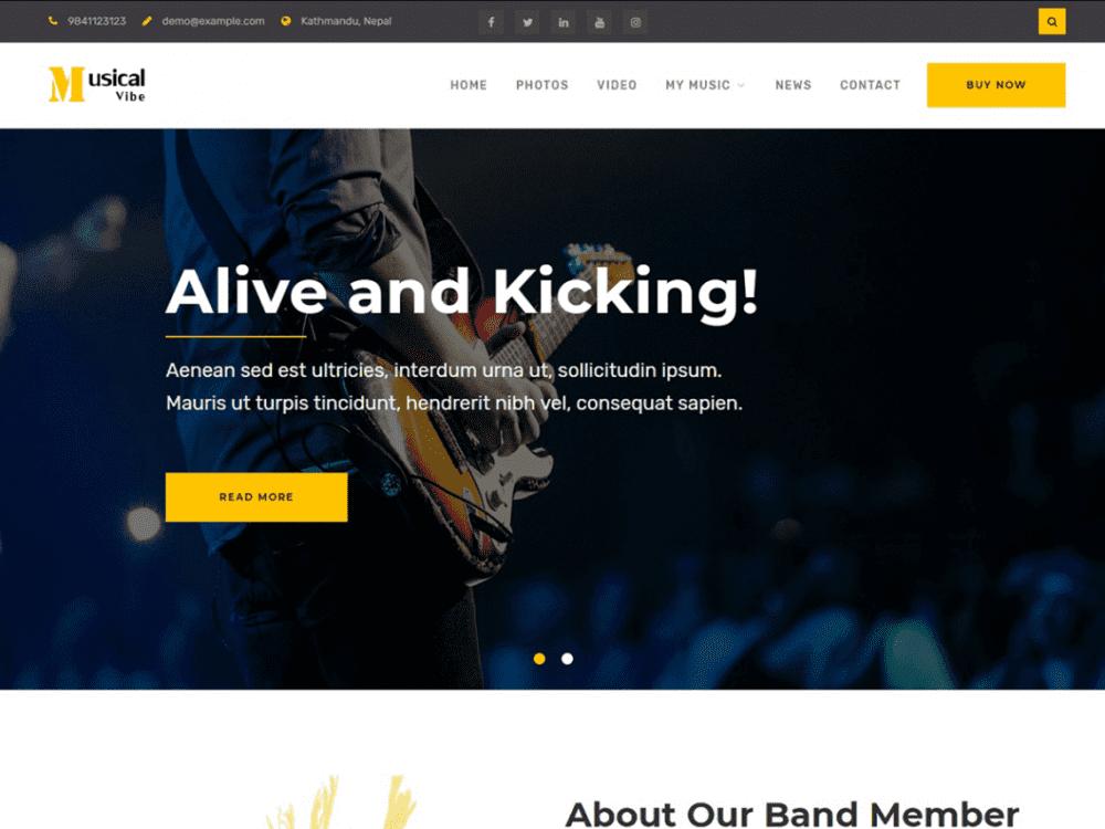 Free Musical Vibe WordPress theme