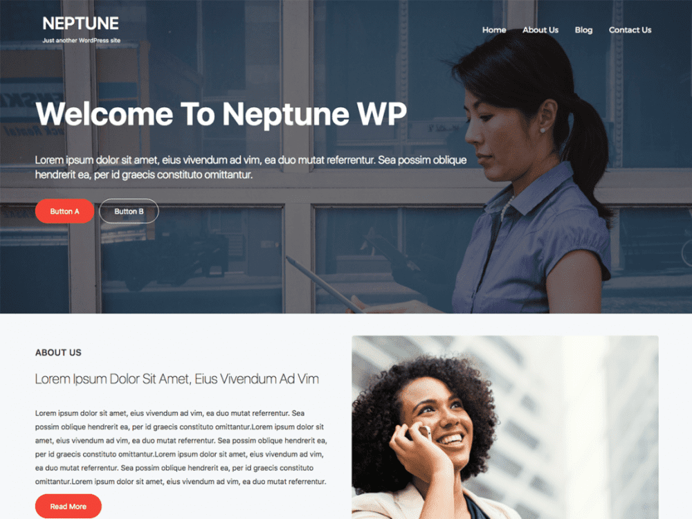 Free Neptune WP WordPress theme