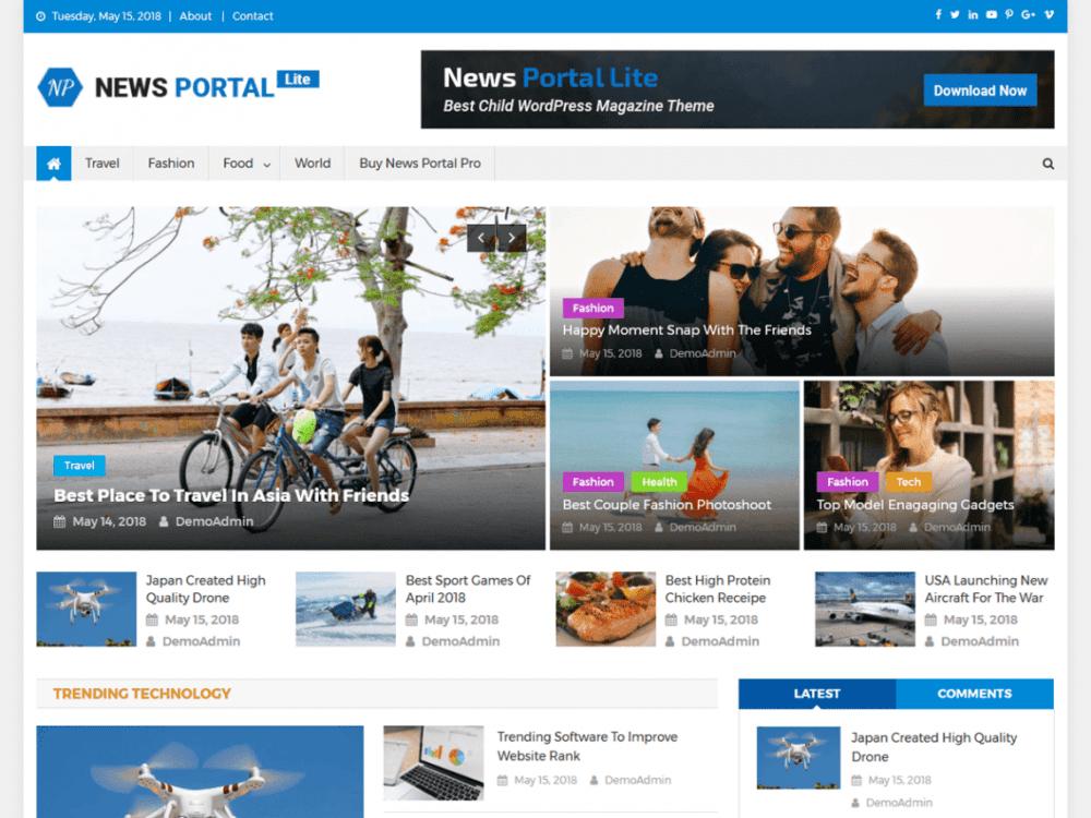 Free News Portal Lite WordPress theme