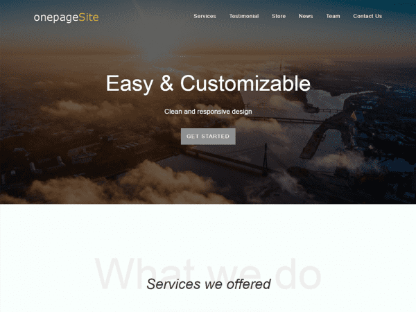 Free One Page Site WordPress theme