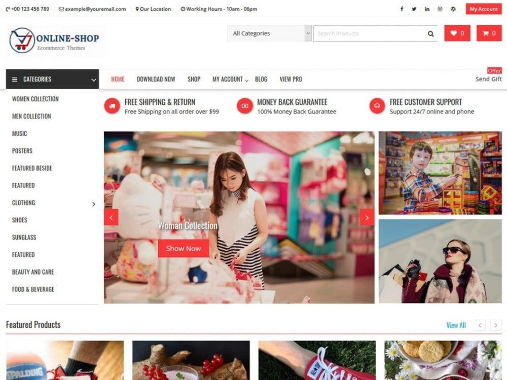 Free Online Shop WordPress theme