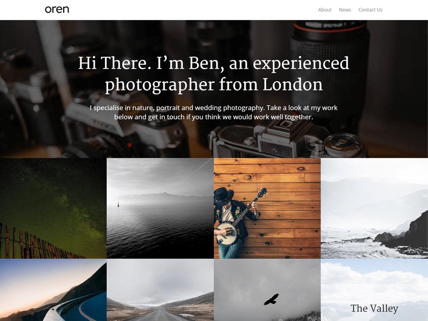 Free Oren WordPress theme
