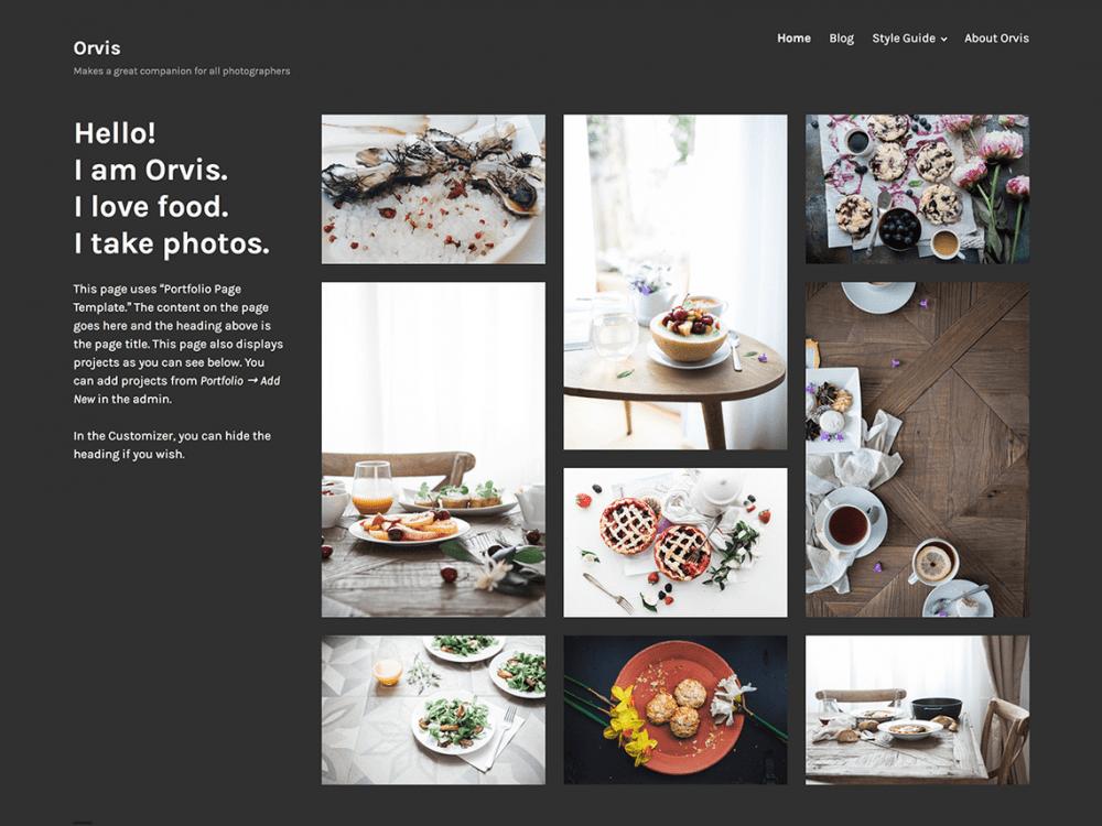 Free Orvis WordPress theme