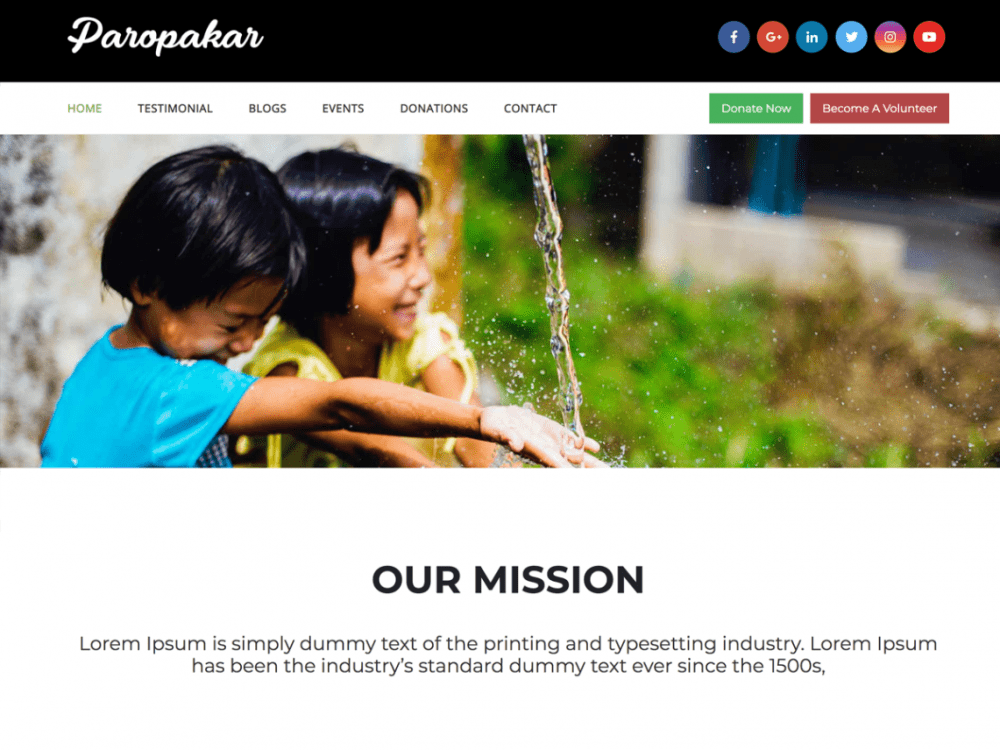 Free Paropakar WordPress theme