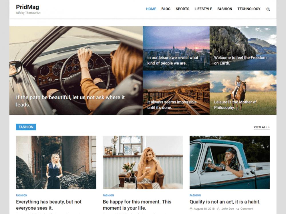 Free PridMag WordPress theme