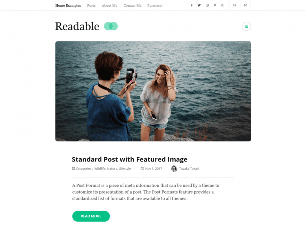 Free Rara Readable WordPress theme