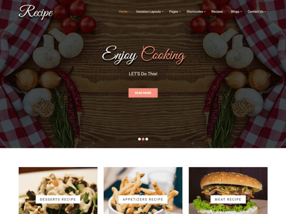 Free Recipe Lite WordPress theme
