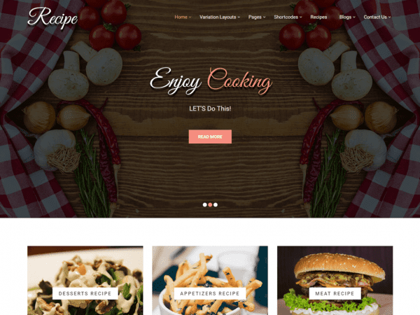 Free Recipe Lite WordPress theme