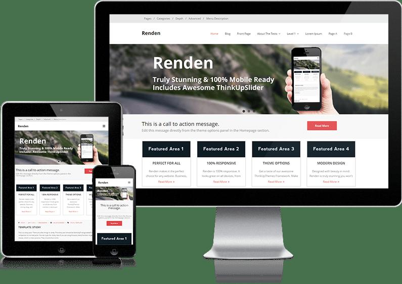 Free Renden X WordPress theme