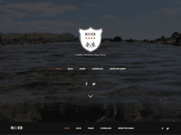 Free Rider WordPress theme