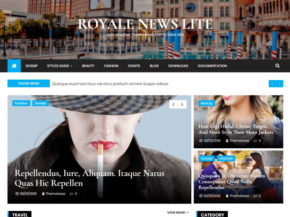 Free Royale News Lite WordPress theme