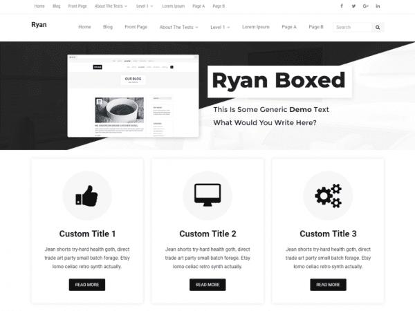 Free Ryan Boxed WordPress theme