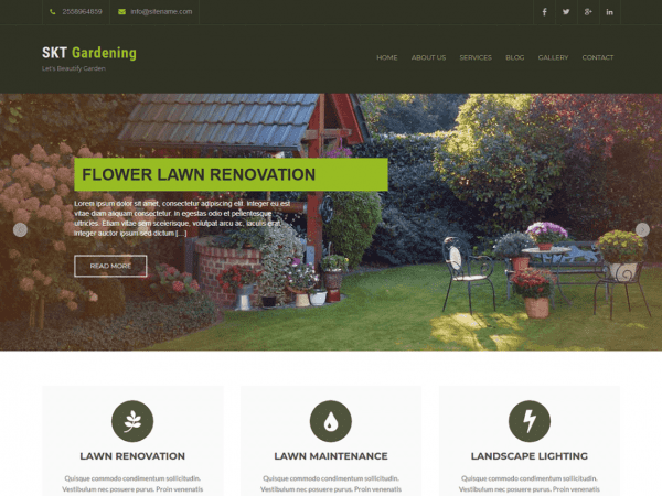 Free SKT Gardening Lite WordPress theme