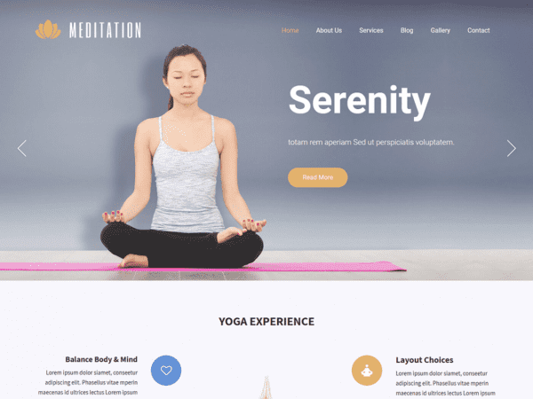 Free SKT Meditation WordPress theme