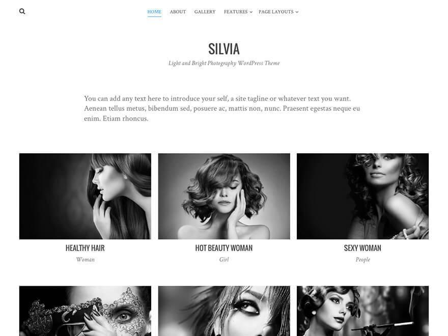Free Silvia WordPress theme