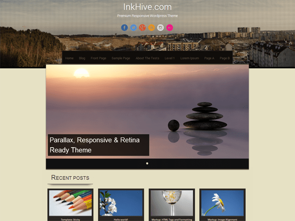 Free Sixteen WordPress theme