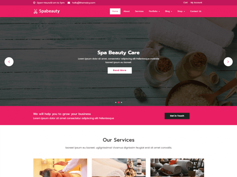 Free Spabeauty WordPress theme