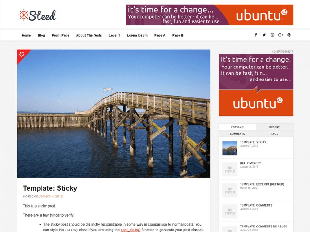 Free Steed WordPress theme