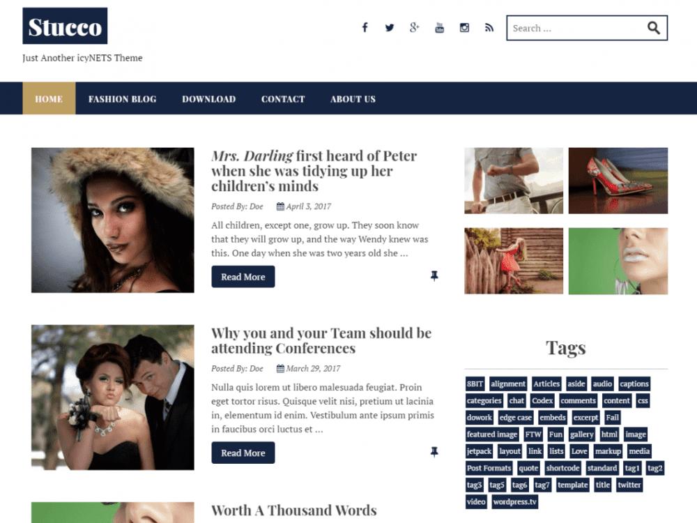 Free Stucco WordPress theme