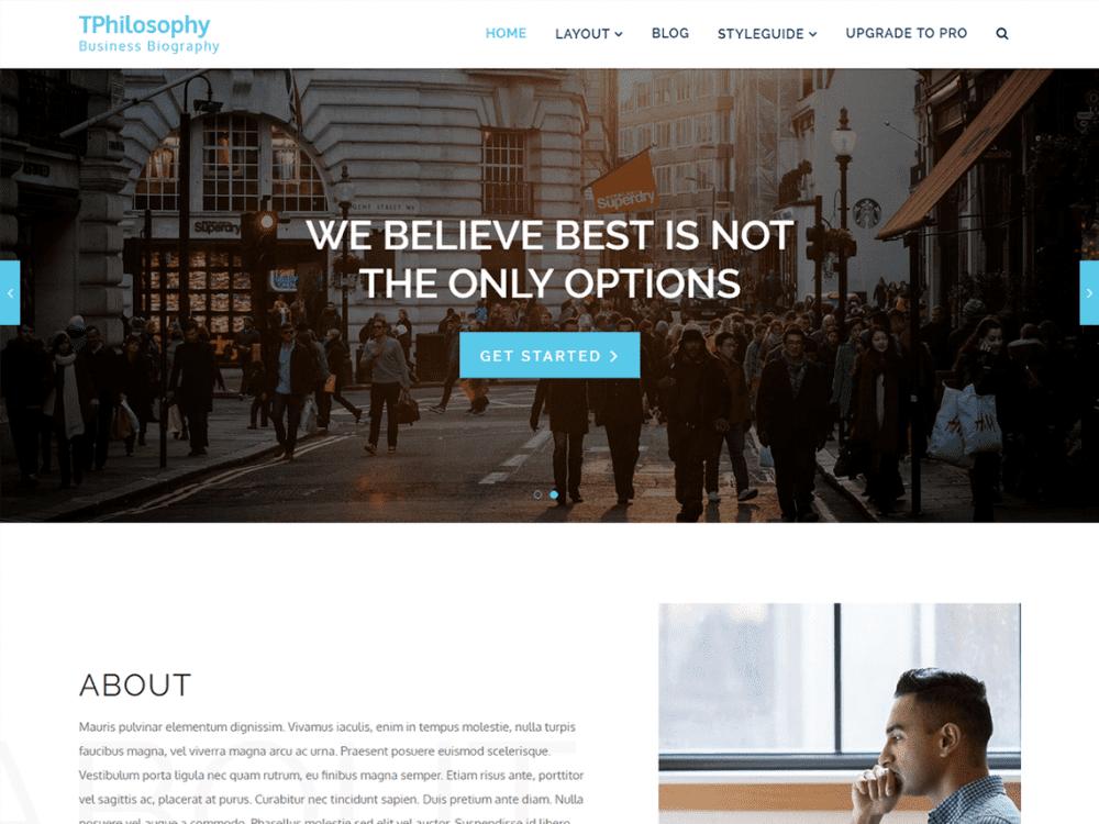 Free TP Philosophy WordPress theme
