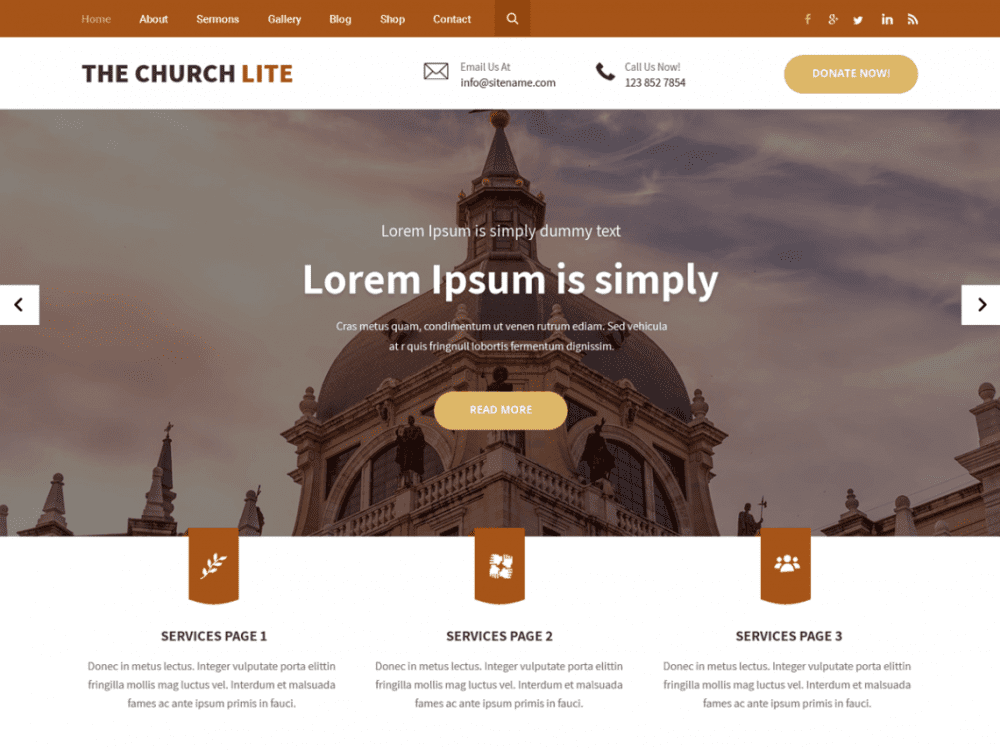 Free The Church Lite WordPress theme