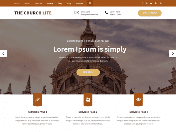 Free The Church Lite WordPress theme