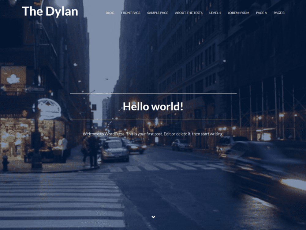 Free The Dylan WordPress theme