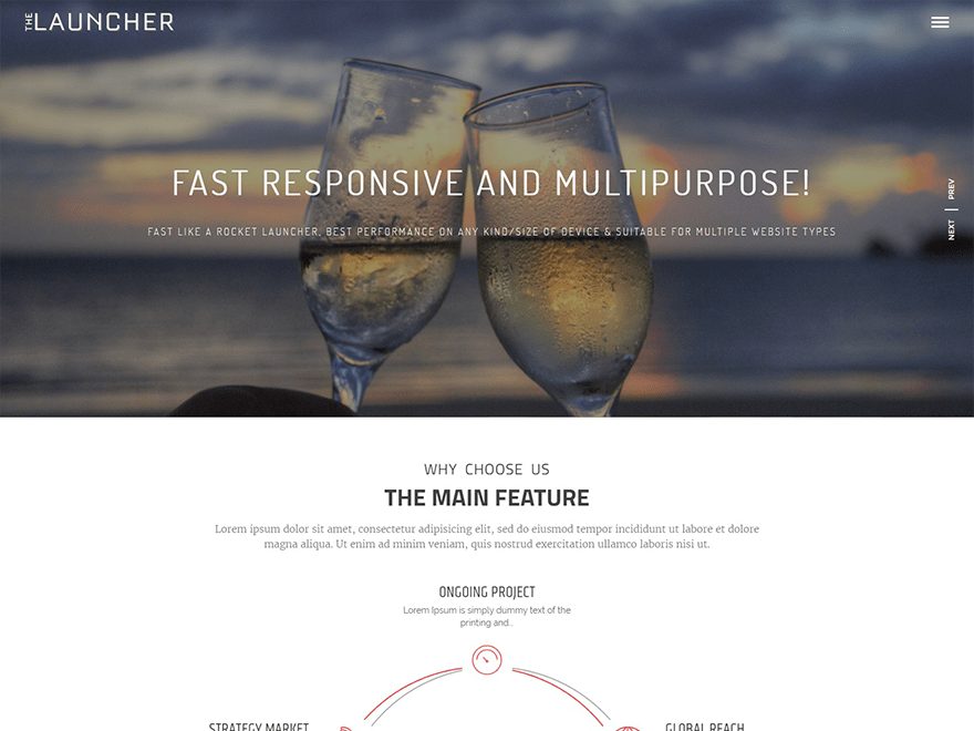 Free The Launcher WordPress theme