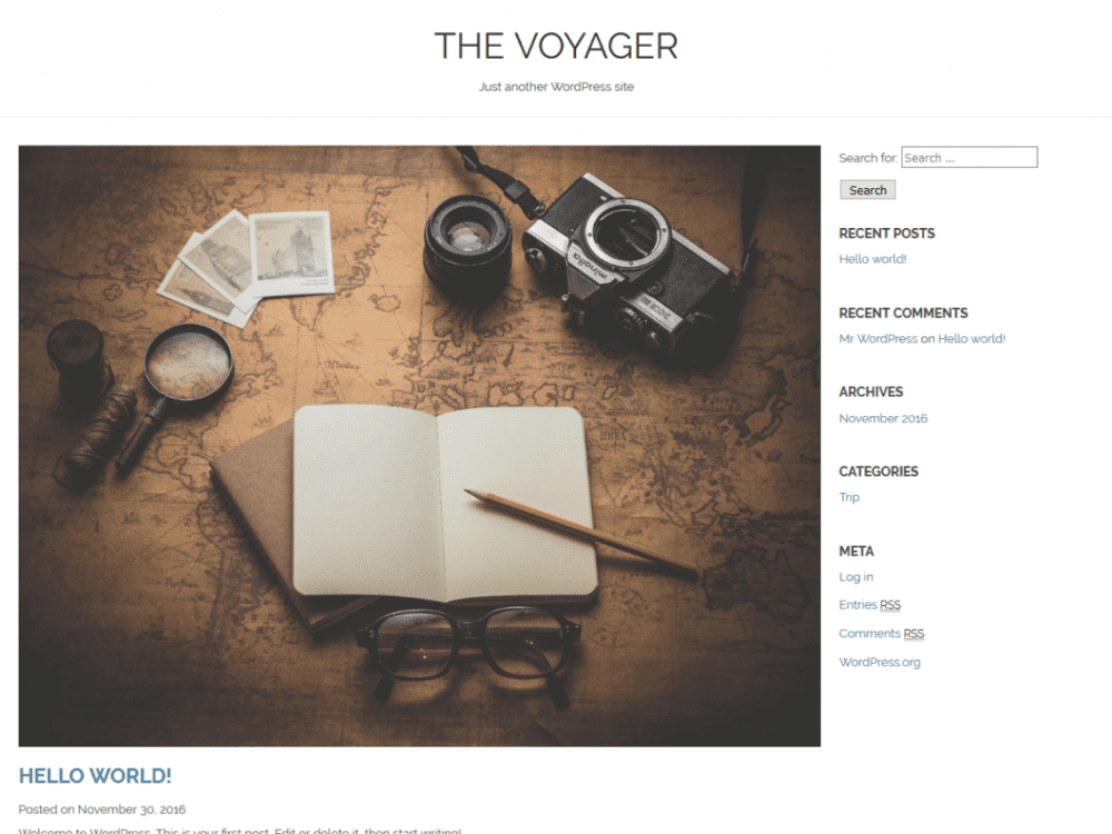 Free The Voyager WordPress theme