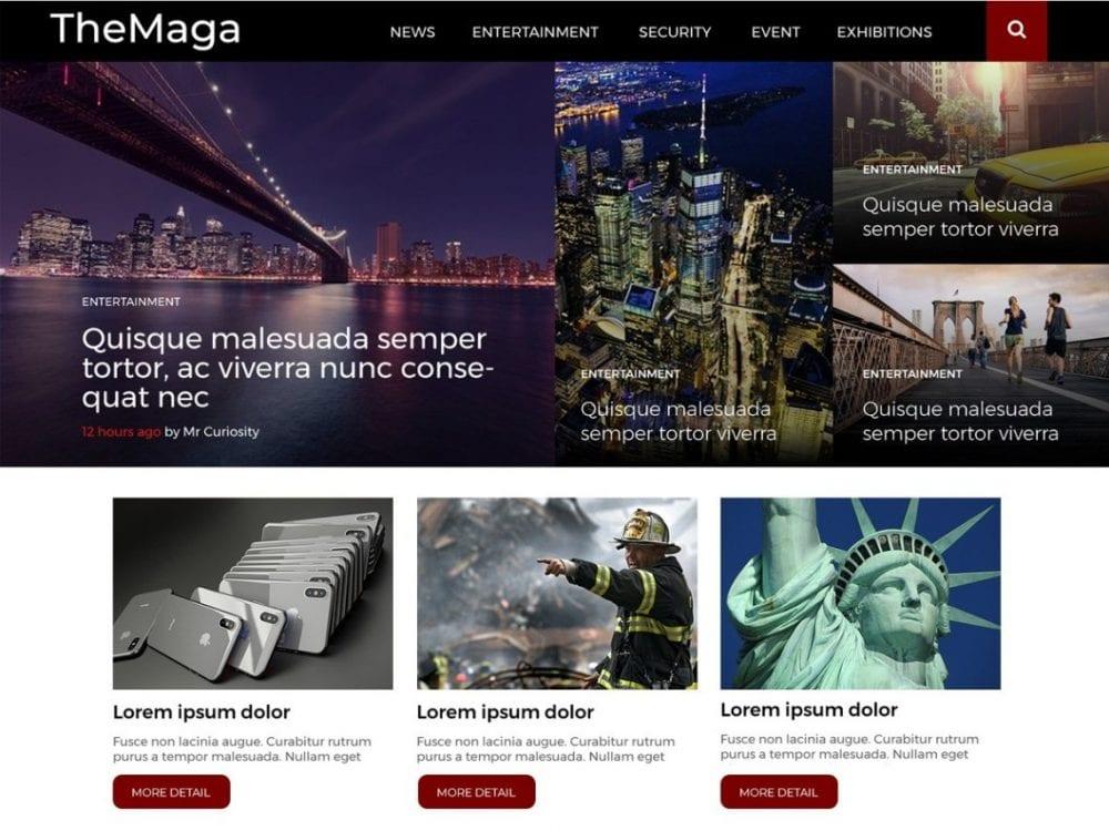 Free Themaga WordPress theme