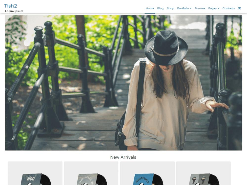 Free Tish2 WordPress theme