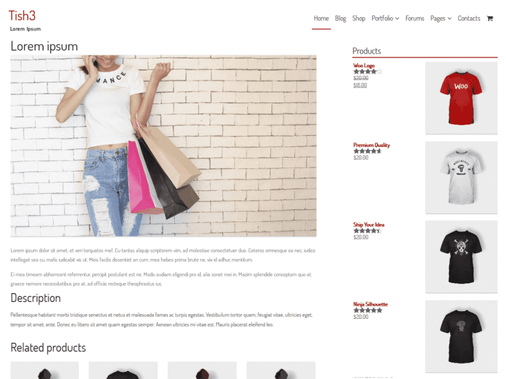 Free Tish3 WordPress theme